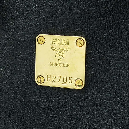 MCM(엠씨엠) 1011054100301 블랙 레더 ALDA 보스톤 토트백