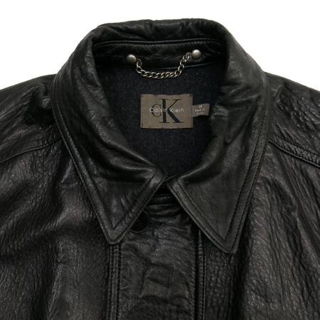 Calvin Klein(캘빈클라인) 블랙컬러 가죽 자켓