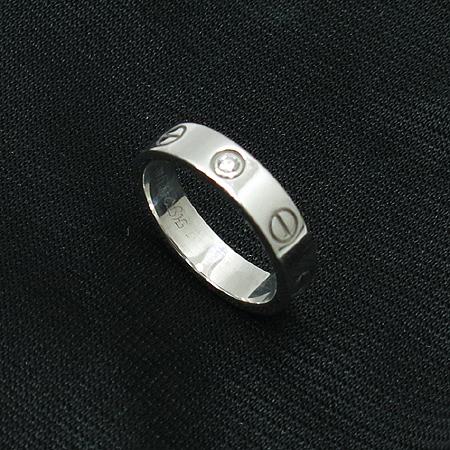 Cartier(까르띠에) B4050547 18K 화이트골드 1포인트다이아 미니 러브링 반지 - 7호 [압구정매장]