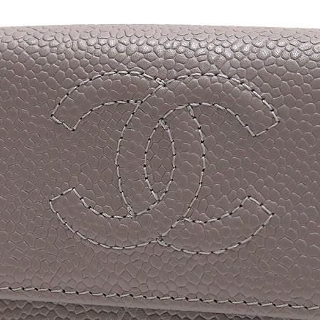 Chanel(샤넬) A48650 COCO로고 캐비어스킨 반지갑 [압구정매장] 이미지2 - 고이비토 중고명품