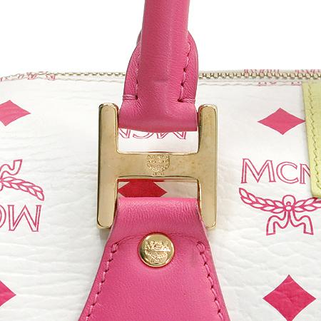 MCM(엠씨엠) 1011067040822 멀티 컬러 레더 보스톤 토트백