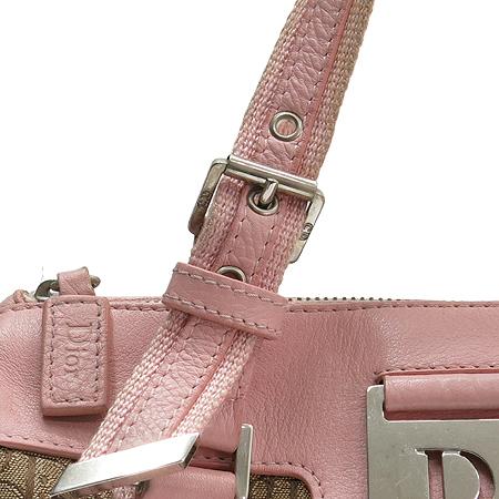 Dior(크리스챤디올) JCF44969 실버 메탈 로고 핑크 레더 트리밍 디오르시모 보스톤 토트백