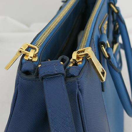 Prada(프라다) B2274C 블루&네이비 투톤 사피아노 럭스 토트백+숄더 스트랩 [일산매장]