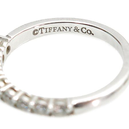 Tiffany(티파니) PT950(플레티늄) 쉐어드 세팅 9포인트 다이아 웨딩  2.2mm 반지 [압구정매장]