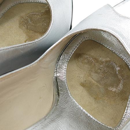 Gucci(구찌) 112124 실버 메탈릭 오픈토 슬링백 여성용 구두