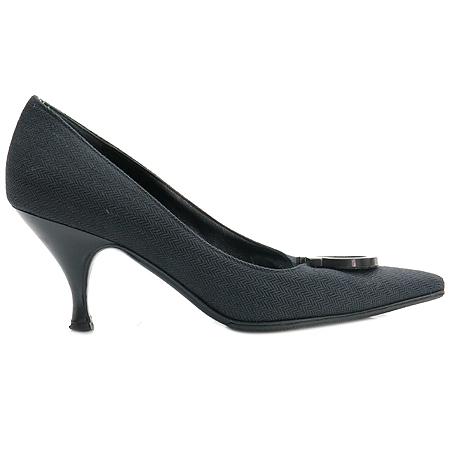 Ferragamo(페라가모) 블랙 간치노 장식 패브릭 여성용 구두