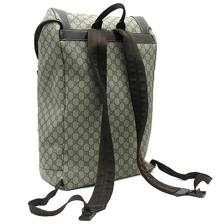 Gucci(구찌) 246321 GG로고 PVC 다크브라운 레더 트리밍 인터로킹 G 로고 러버 백팩 [부천 현대점]