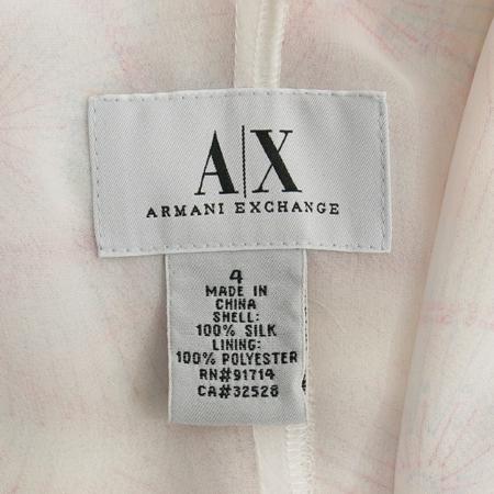 Armani Exchange(아르마니 익스체인지) 화이트, 핑크 컬러 실크 나시 원피스