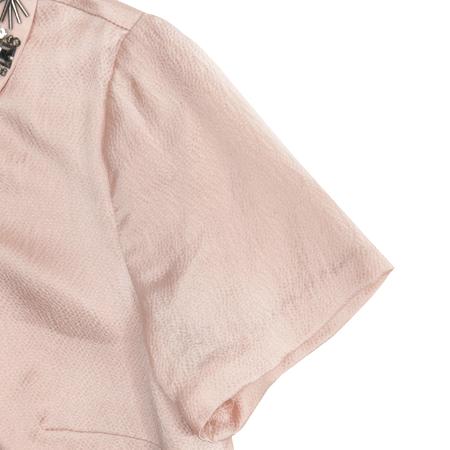 CLUB MONACO(클럽모나코) 핑크 컬러 큐빅 장식 실크 원피스
