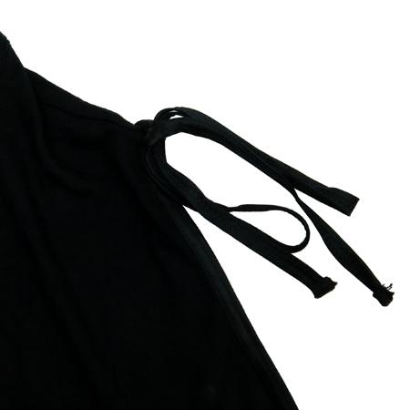 MNG(망고) 블랙컬러 민소매 티 (배색:실크 100)