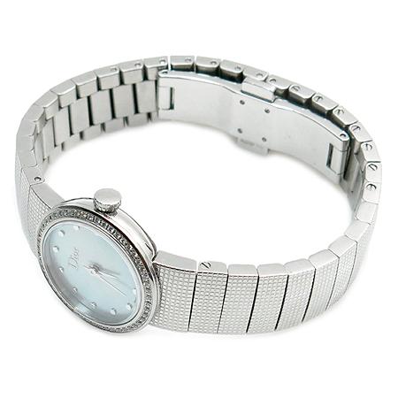 Dior(크리스챤디올) LA D DE DIOR(라 디 드 디올) 베젤 다이아 자개 다이얼 스틸 여성용 시계 이미지2 - 고이비토 중고명품