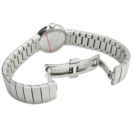 Dior(크리스챤디올) LA D DE DIOR(라 디 드 디올) 베젤 다이아 자개 다이얼 스틸 여성용 시계 이미지3 - 고이비토 중고명품