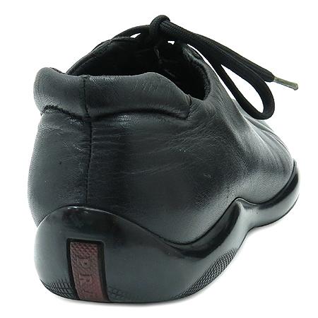 Prada(프라다) 블랙 레더 스니커즈