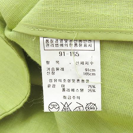 ANIVEE F(아니비에프) 라임컬러 비즈장식 리넨혼방 자켓 이미지5 - 고이비토 중고명품