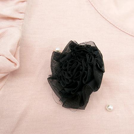 SOUP(숩) 핑크& 블랙컬러 원피스 (브로치set)