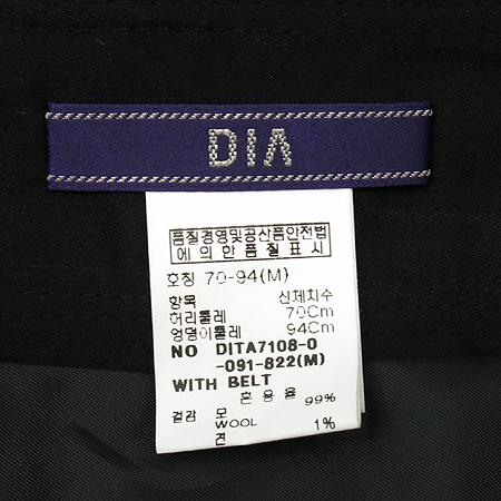 DECO(데코) DIA 실크혼방 블랙컬러 반바지 이미지4 - 고이비토 중고명품