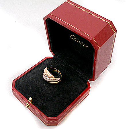 Cartier(까르띠에) B4052858 18K 삼색 골드 트리니티 XL 반지-18호