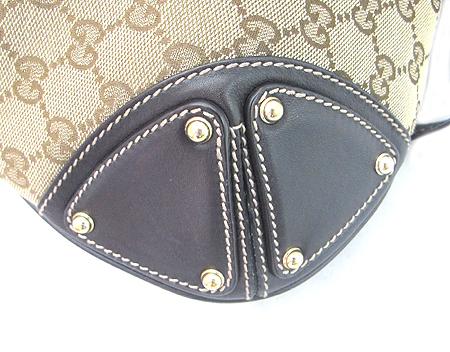 Gucci(구찌) 185566 GG 로고 자가드 뱀부 장식 인디 토트백+숄더스트랩 [부산센텀본점] 이미지4 - 고이비토 중고명품