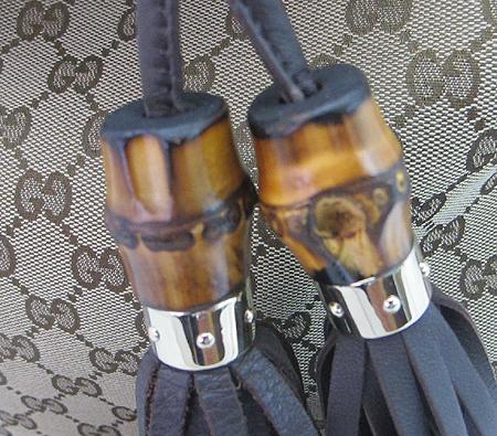 Gucci(구찌) 185566 GG 로고 자가드 뱀부 장식 인디 토트백+숄더스트랩 [부산센텀본점] 이미지5 - 고이비토 중고명품
