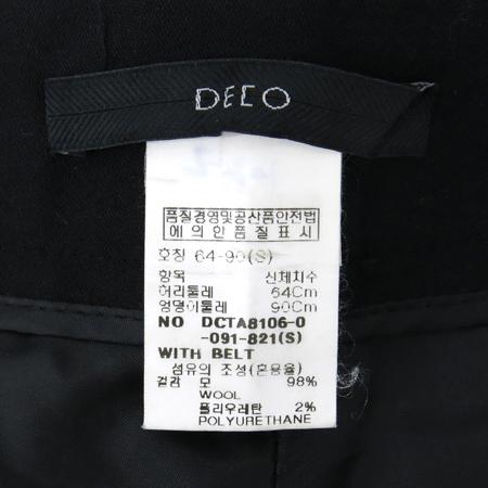DECO(데코) 블랙컬러 정장바지