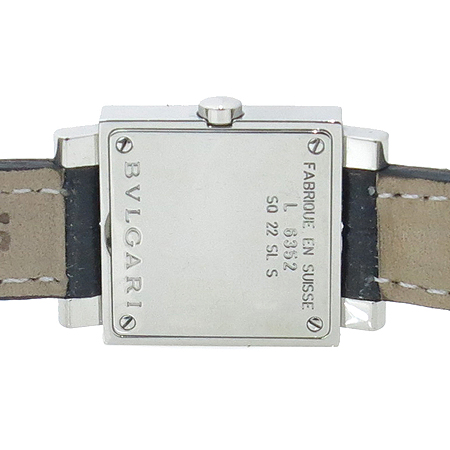 Bvlgari(불가리) SQ22SL 12포인트 다이아 가죽밴드 여성용 시계