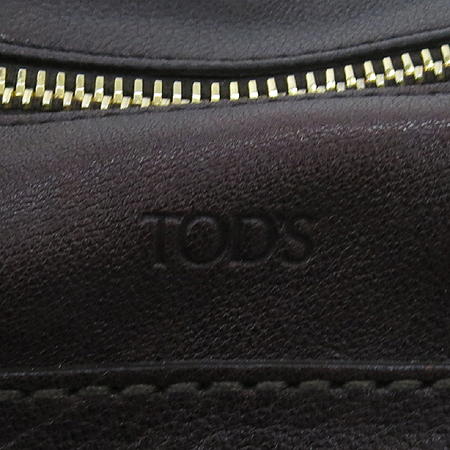 Tod's(토즈) 브라운 레더 투 포켓 토트백