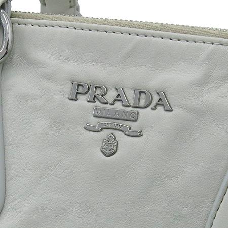 Prada(프라다) BN2136 은장 로고 그레이 레더 2WAY [명동매장]