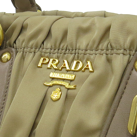 Prada(프라다) BN1407 브라운 패브릭 고프레 2WAY [명동매장]