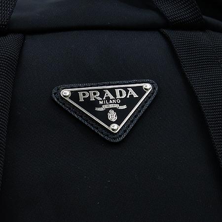 Prada(프라다) V164 블랙 패브릭 사피아노 혼방 투 포켓 백팩[부천 현대점]