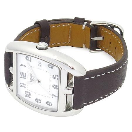 Hermes(에르메스) CT1.710 케이프 코트 가죽밴드 쿼츠 남성 시계 [명동매장]