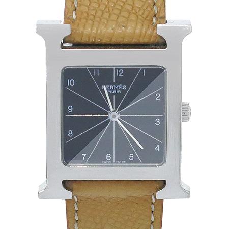 Hermes(에르메스) HH1.510. H-OUR 은장 펜던트 가죽 밴드 남성용 시계 이미지2 - 고이비토 중고명품