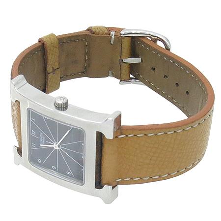 Hermes(에르메스) HH1.510. H-OUR 은장 펜던트 가죽 밴드 남성용 시계 이미지3 - 고이비토 중고명품