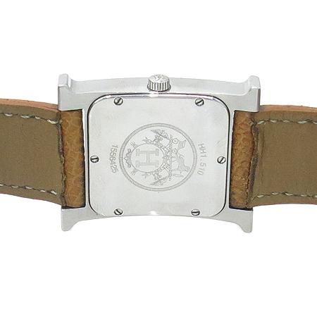 Hermes(에르메스) HH1.510. H-OUR 은장 펜던트 가죽 밴드 남성용 시계 이미지5 - 고이비토 중고명품