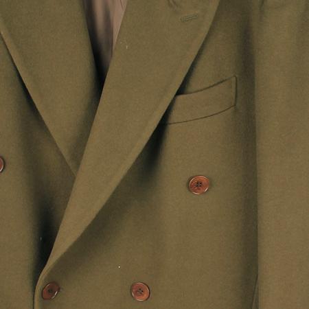 BASILE(바실) 카키컬러 캐시미어혼방 코트