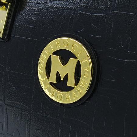 Metrocity(메트로시티) 금장 로고 장식 크로커다일 패턴 보스턴 토트백