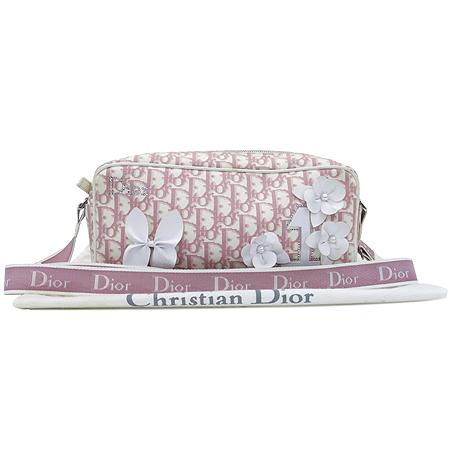Dior(크리스챤디올) GLY44190 로고 패브릭 플라워 PVC 장식 크로스백