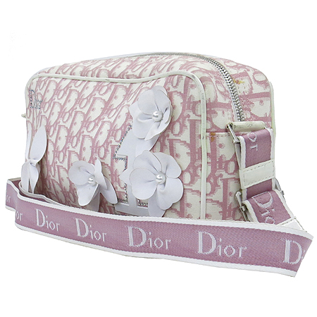 Dior(크리스챤디올) GLY44190 로고 패브릭 플라워 PVC 장식 크로스백 이미지3 - 고이비토 중고명품