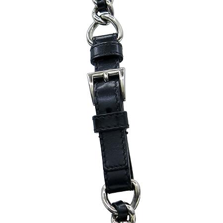 Prada(프라다) BR2656 바이올렛 패브릭 퀄팅 블랙 레더 은장 체인 숄더백 [대구반월당본점] 이미지3 - 고이비토 중고명품