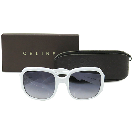 Celine(셀린느) SC1633 측면 로고 화이트 뿔테 선글라스