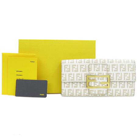 Fendi(펜디) 8M0021 로고 아이보리 PVC 장지갑