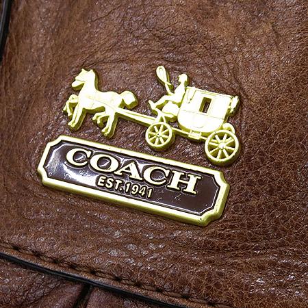 Coach(코치) 12935 메디슨 줄리앙 브라운 레더 금장 로고 2WAY