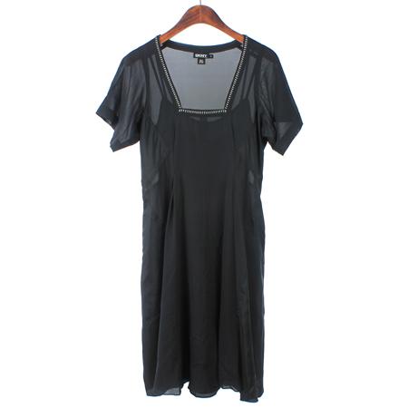 DKNY(도나카란) 블랙컬러 실크혼방 원피스 (속나시SET)
