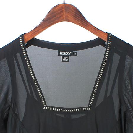 DKNY(도나카란) 블랙컬러 실크혼방 원피스 (속나시SET) 이미지2 - 고이비토 중고명품