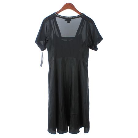 DKNY(도나카란) 블랙컬러 실크혼방 원피스 (속나시SET) 이미지4 - 고이비토 중고명품
