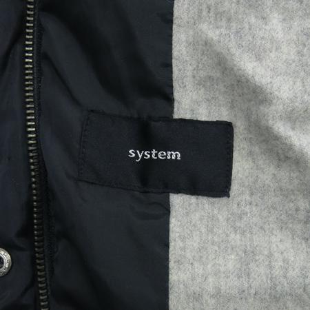 System(시스템) 블랙컬러 패딩 점퍼 [동대문점]