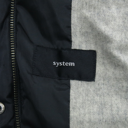 System(시스템) 블랙컬러 패딩 점퍼