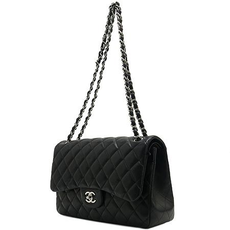 Chanel(샤넬) A58600Y01295 램스킨 클래식 점보 사이즈 은장 체인 숄더백