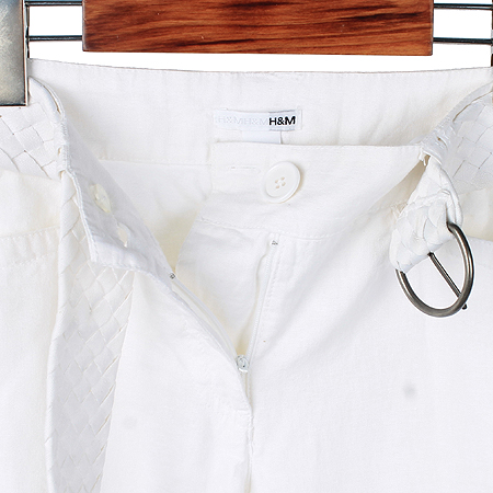 H&M(에이치엔엠) 화이트컬러 리넨혼방 바지 (벨트SET)