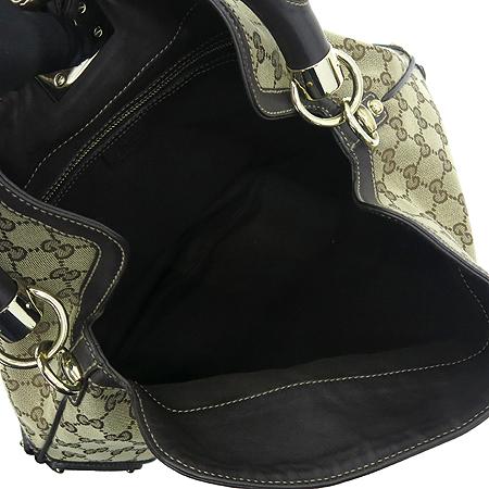 Gucci(구찌) 185566 GG 로고 자가드 뱀부 장식 인디 토트백[인천점]