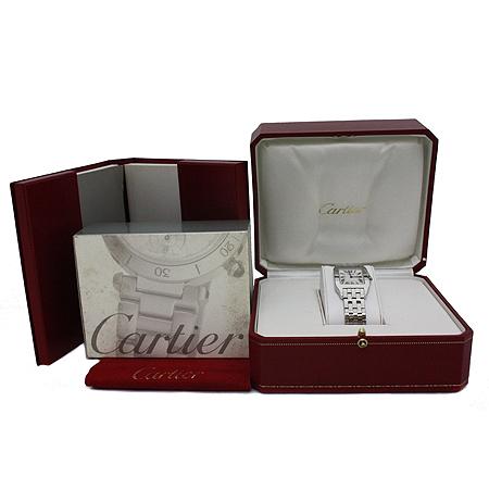 Cartier(까르띠에) W25065Z5 산토스 드모아젤 스틸 M 사이즈 쿼츠 여성용 시계 [동대문점]